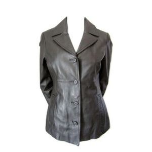 Danier Black Leather Jacket with Winter Liner S